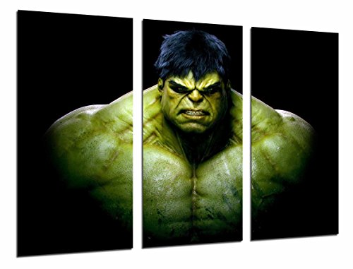 Cuardos Camara Poster Fotográfico Hulk, superheroe, comic Tamaño total: 97 x 62 cm XXL, Multicolor