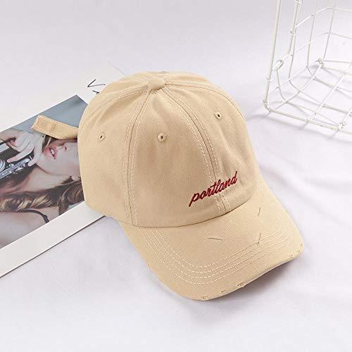 Honkbalmuts casual wilde muts mannen en vrouwen paren zomerzonnehoed softtop hoed adjustable beige