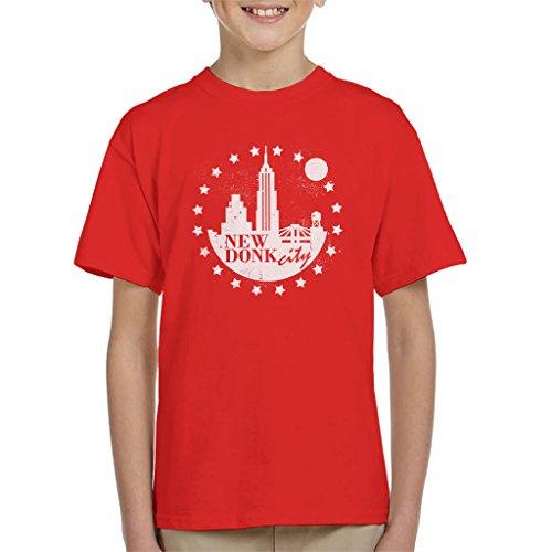 New Donk City Donkey Kong Kid's T-Shirt Red