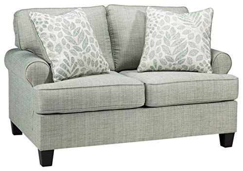 Signature Design by Ashley - Kilarney Linen Loveseat w/ 2 Pillows, Mist Green -  Ashley Furniture Industries, 3020135