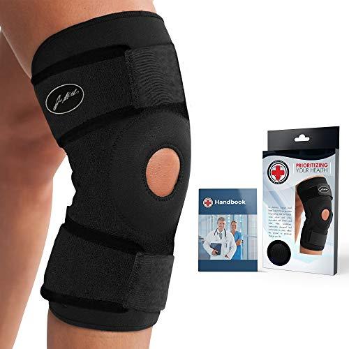 Rodillera soporte prémium con forro de cobre, desarrollado por doctores; incluye libro médico. Garantiza alivio y apoyo a lesiones de rodilla y otras molestias