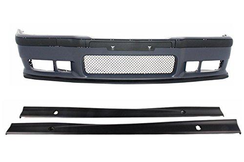 KITT® COCBBME36M3SS - Parachoques delantero con faldas laterales (polipropileno de alta calidad)