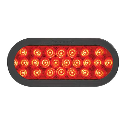 GG Grand General 76522 LED-Stroboskoplicht, oval, perlrot mit Tülle und Zopf, Rot/Rot
