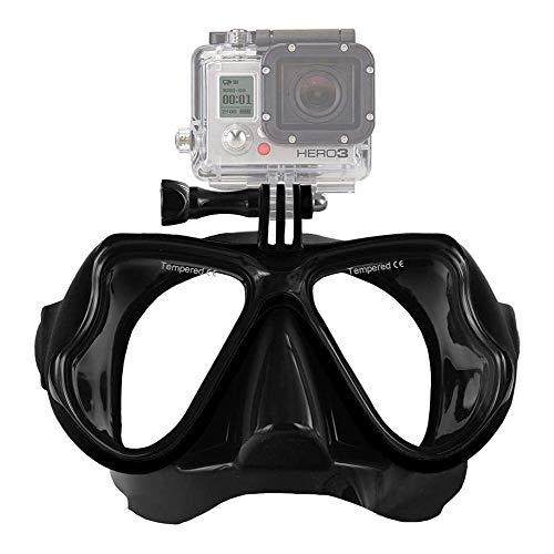 ZHANGXJ Seguro Easybreath Profesional Gafas de Bucear Gafas de Natación Adultos Máscara de Buceo Máscara Snorkel Anti-Niebla Anti-Fugas Antideslizante (Color : Black)
