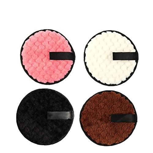 Sanfiyya Desmaquillador de Tela de ratón Soplo Reutilizable Lavable de Doble Cara de Forma instantánea sólo con Agua Toallitas para 4pcs Limpiador Facial