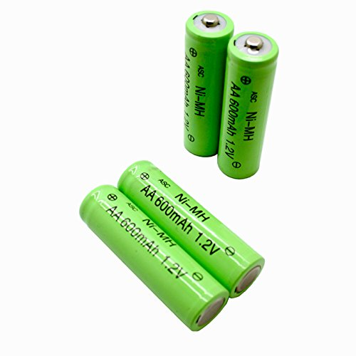 ASC Solar Light AA Ni-MH 600mAh Rechargable Batteries (Pack of 12) (AA 600mAh)
