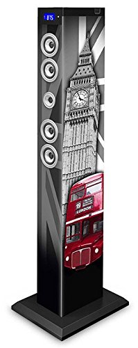 BigBen Sound Tower TW9 | London  | 60 Watt RMS | Bluetooth, Aux-IN, SD, UKW