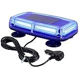 Justech 6-COB LED 60W Luces Intermitentes de Advertencia de Emergencia del Coche Faro de Peligro Azul Luces de Barra luz estroboscópica 12V 24V con Base Magnética para Remolque Camión Vehículo