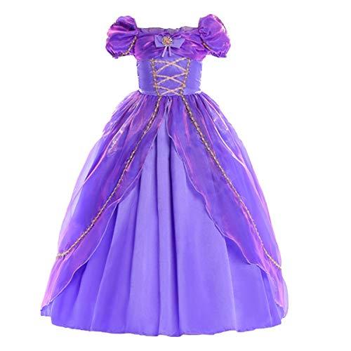 MYRISAM Vestidos de Princesa Sofia para Nias Disfraz de Carnaval Rapunzel Traje de Halloween Navidad Cumpleaos Fiesta Ceremonia Aniversario Cosplay Vestir 3-4 aos