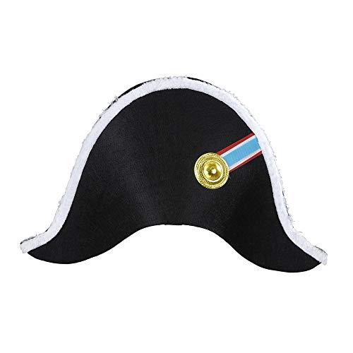 Widmann 01126 Hut Napoleon, für Erwachsene, schwarz