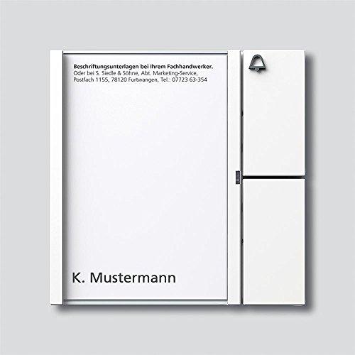 Siedle 2544200 Tastenmodul 1 Taste 1 mit N-System, TM 612-1 W, weiß