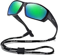 Bevi Polarized Sports Sunglasses for Men Square TR 90 Frame Glasses Flexible and Durable Sun Glasses 2701C2