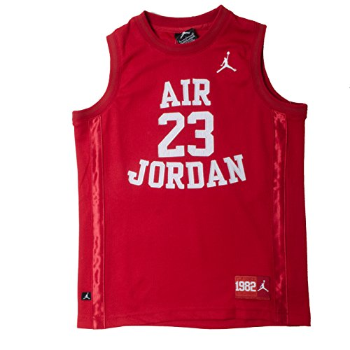Nike Boys Youth Air Jordan Muscle T-Shirt (Large, Red)