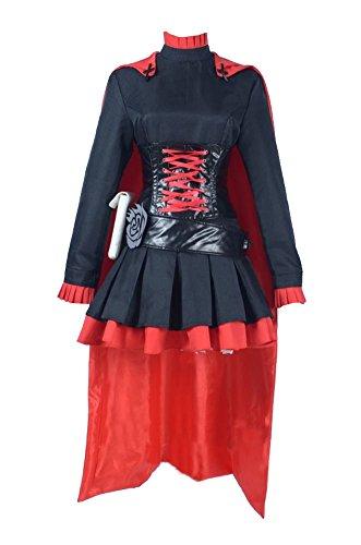 Wish Costume Shop RWBY Ruby Rose Cosplay Costume Halloween Women Dress (XXL, Black)