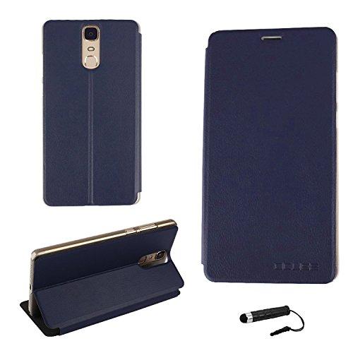 Tasche für Doogee Y6 MAX Hülle, Ycloud PU Ledertasche Metal Smartphone Flip Cover Case Handyhülle mit Stand Function Marineblau