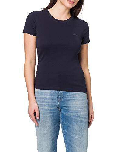Preisvergleich Produktbild s.Oliver Damen 120.11.899.12.130.2060851 T-Shirt,  Navy,  46