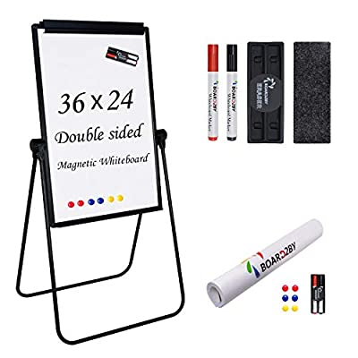 U Stand Whiteboard Easel, 24 x 36 Inch Double S...