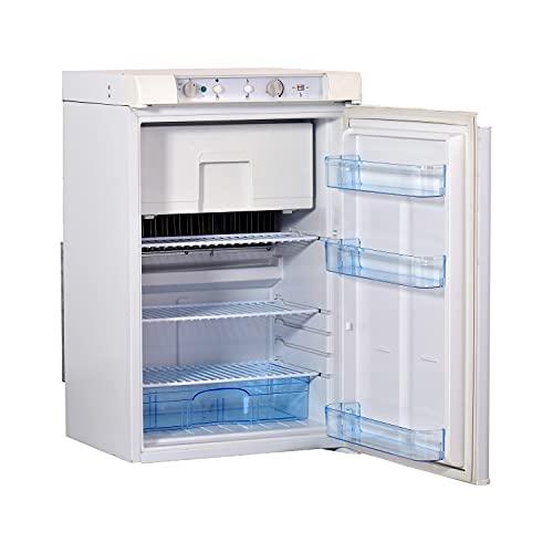 Smad 3 Way Fridge Freezer 100L, Gas Lpg 12v 240v fridge for Campervan, Caravan, Motorhome, Silent,...