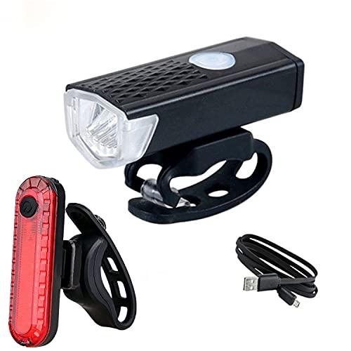 Luz Bicicleta Luz de bicicleta recargable USB LED Ciclo de montaña Frente Bicicleta Luz de bicicleta y 3 colores Flashlight Flashligh Flashligh Flash Lámpara de bicicleta Ciclismo ( Color : Red )