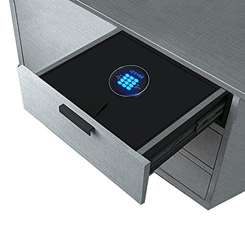 Caja Fuerte Empotrable コードで安全なトップオープニング、 ミニ小型セキュリティ金庫 家の寝室の引き出しクローゼット用、 耐火ボックス ドキュメントガンキャッシュ用