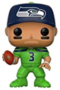 From the NFL, Russell Wilson (Seahawks color Rush), as a stylized pop vinyl from Funko! Stylized collectable stands 3 ¾ inches tall, perfect for any NFL fan! Collect and display all NFL pop! Vinyls!