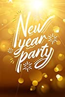 新しい6x9ft新年パーティーフェスティバルゴールデンライトブルーミング写真撮影の背景幸せなお祝いの背景部屋の装飾LYST253