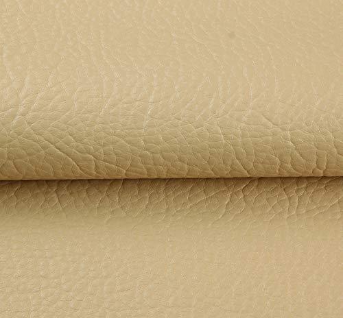 Yimihua Kunstleder Polster Kunstleder Lederimitat Leder Stoff Lederimitat Polsterstoff Möbelstoff Bezugsstoff Textil PU 1mx1m38 (Color : Beige)
