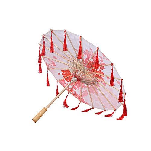 Inicio Paraguas de Mujer Flores de Cerezo Japonesas Paraguas de Seda de Estilo Chino Antiguo Baile de Boda Baile Papel de Aceite Paraguas Accesorios de Fotos