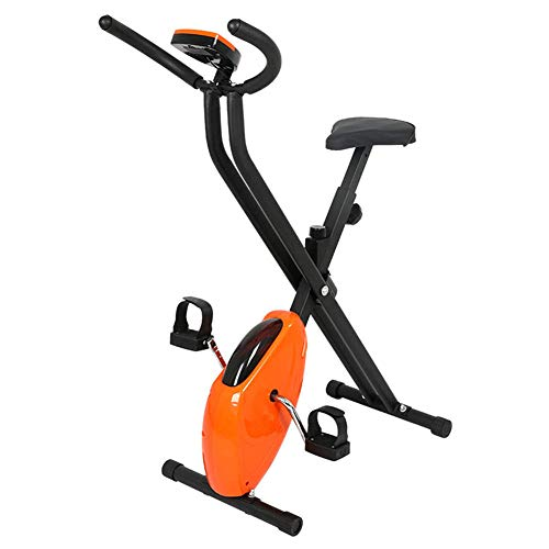 Bicicleta estática plegable, equipo de fitness para deportes de interior, con pantalla LCD, diferentes niveles de resistencia, entrenador de bicicleta estática, adecuado para el hogar, la oficina