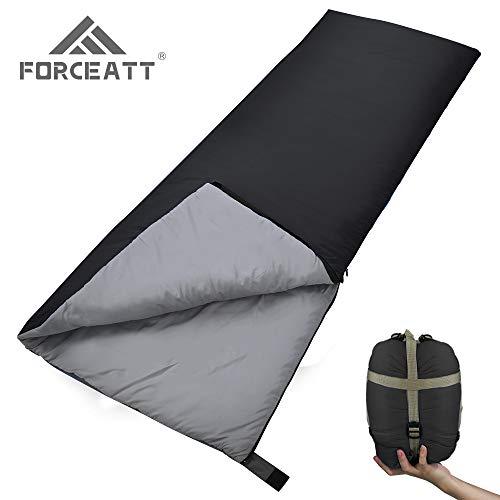 Forceatt Schlafsack Ultraleicht (Mit Kompressionssack),Geeignet für 2-3 Jahreszeiten und Mit Einem Gewicht von Nur 0,8 kg,Ideale Campingausrüstung für Erwachsene und Kinder,Reisen,Wandern und Outdoor