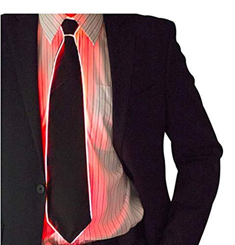 LED Leuchten Krawatte, LED Krawatten Leuchten Krawatten Luminous LED Krawatte Einstellbare blinkende LED Leuchten Krawatte Man Leuchten Fanny Krawatten Neuheit Krawatte für Männer (Rot)