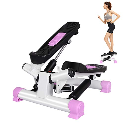 JINGOU Indoor Fitness Stair Stepper Aerobic Trainer Twist Stair Stepper with Resistance Bands for Beginners and Professionals