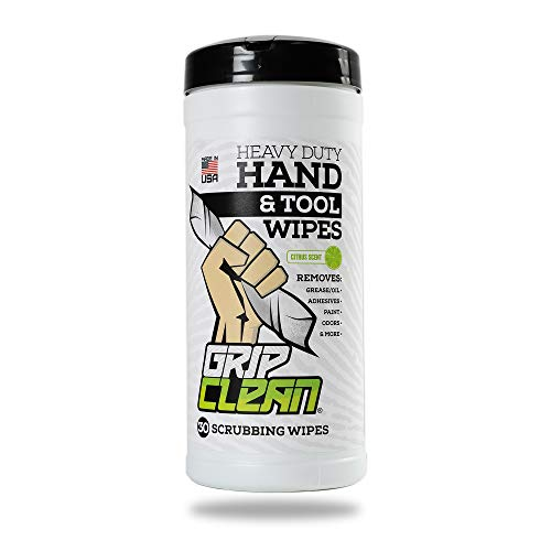 Grip Clean | Heavy Duty Hand Wipes & Tool Cleansing Wipes -...