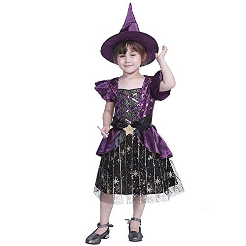 I3CKIZCE Costume Halloween pour fille Robe violette...