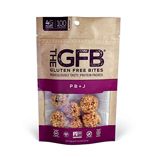 The GFB Gluten Free Protein Bites, PB+J, 4 Ounce (6 Count), Vegan, Dairy Free, Non GMO, Soy Free