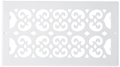 Decor Grates S612R-WH Cold Air Return Register, 6-Inch by 12-Inch, White
