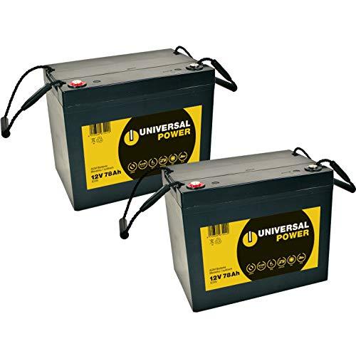 Blei Akku Batterie 2 x 12V/75Ah wie 77Ah für Rollstuhl Elektromobil Meyra Optimus 2