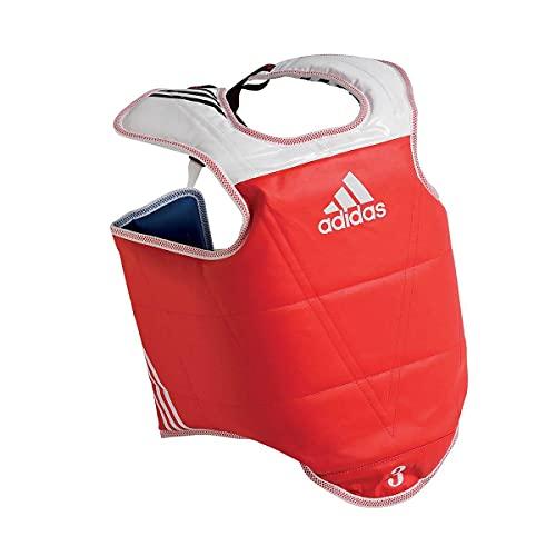 adidas WT Taekwondo Martial Arts TKD Body Protector Chest Guard Kampfsport Körperschutz Brustschutz, blau, L