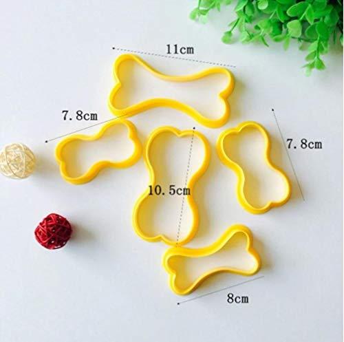 JNML Cake biscuit embossing apparaat Korst Cutter Bakken Gebak Gereedschap 3 stks Sandwich Mold Konijn Bloem Panda vormige Brood, 5 stks