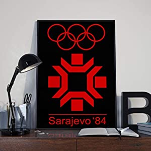 Plakat der Olympischen Winterspiele Poster – Sarajevo 1984