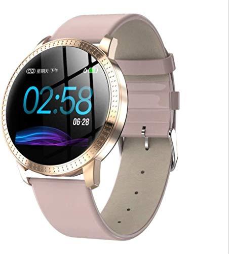 ZHENAO Fitness Tracker Smart Watch New Cf18 Color Pantalla de Color 1.3 Pulgadas Redonda Impermeable Smart Step Heart Rate Fit Sport Fitness Tracker clásico/Rosado