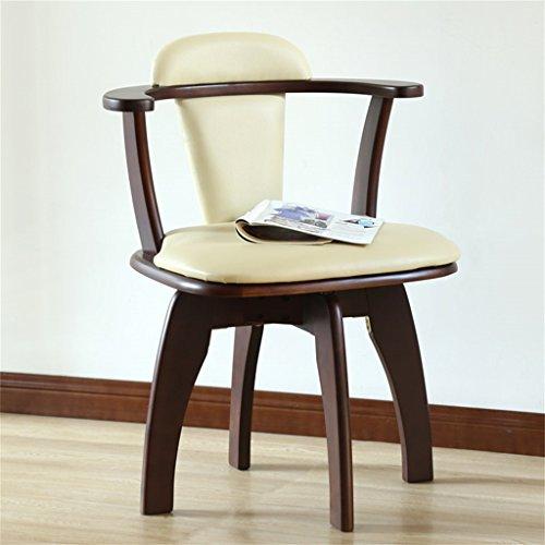Dongy Silla de Comedor de Madera Maciza, Moderna, Minimalista, para el hogar, Silla de computadora multifunción, sillón de Madera Maciza (Color : A)