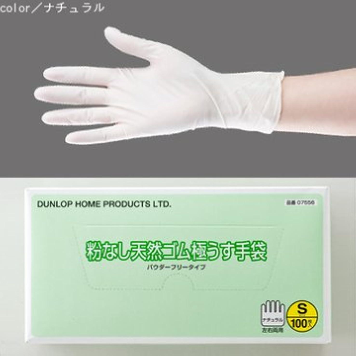 起訴するポーン目的粉なし天然ゴム極うす手袋 100枚入 (L)
