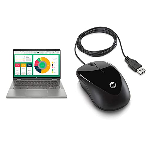 HP Chromebook Laptop (Intel i3 10th Gen Processor/4GB RAM & Not Clear SSD Storage/ChromeOS) – ca0004TU + Wired Mice