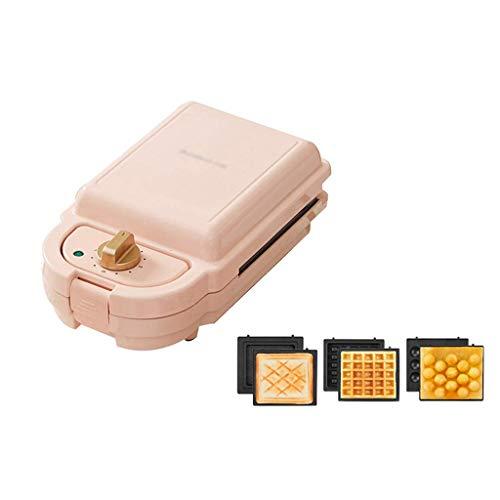 Máquina para Hacer sándwiches con Temporizador, máquina para Hacer gofres, máquina para Hacer donas eléctrica, sartén para Asar Carne, Plancha para Hacer gofres (Color: Rosa, Tamaño: Style3)