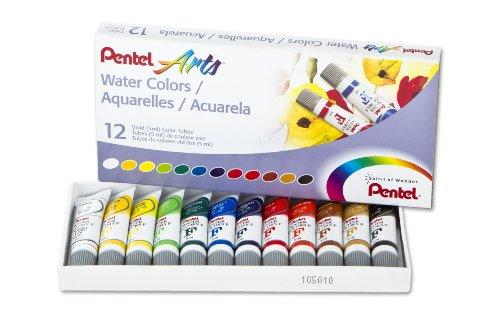 Pentel Peintures aquarelles 5 ML 12 kg Couleurs Assorties