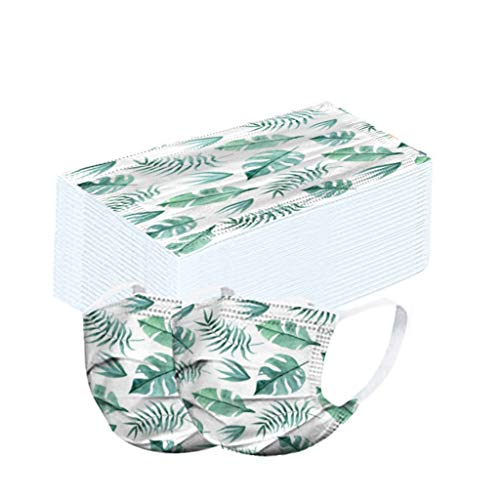 Tomatoa 50 Stück Einmal-Mundschutz,Atmungsaktive Staubschutz Mundbedeckung,Erwachsene,Outdoor Face Cover Sommerschal Bandana
