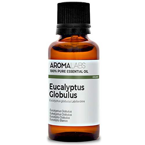 Eucalipto Blanco BIO - 30ml - Aceite esencial 100% natural y BIO - calidad verificada por cromatografía - Aroma Labs