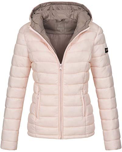 Marikoo Damen Jacke Steppjacke Herbst Winter Übergangsjacke gesteppt B651 [B651-Luc-Rosa-Gr.XL]