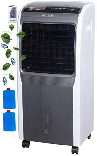 3in1 Aircooler | 6 Liter | 8h Timer | 3 Stufen | Oszillierend | Klimagerät | Mobile Klimaanlage | Luftreiniger | Ventilator | Luftkühler | Luftbefeuchtung | Klima Anlage | Standventilator…